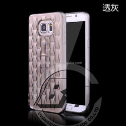 New Arrival Universal durable TPU case Ice Engraving case with Crystal kickstand for Samsung galaxy Note 5 fast delivery