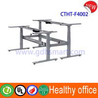 Office smart system & dual adjustable monitor table frame & electronic height adjustment column remote control