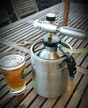 SS tabletop gallon keg with tap