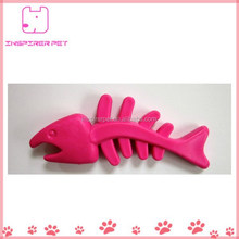 Pet Fish Skeleton Shaped Rubber Chew Toy Teething for Puppy
