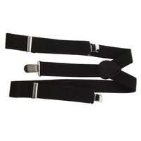 Adjustable Clip-on Unisex Pants Full Elastic and Y-back Suspender Clips Suspender Buckles
