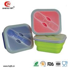 2015 gros boîte à lunch pour enfants, Silicon boîte à lunch pour les enfants DongGuan fournisseur