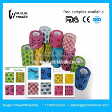 Vetwrap bandages Manufacturing veterinary Dressing products Cohesive Bandage Printed