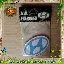 OEM wholesale car brand with scents customized design China factory custom absorbent scented hanging car paper air freshener