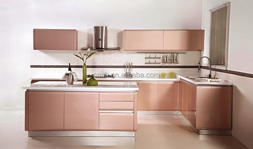 haut de gamme fiber similibois stratifi armoires de cuisine avec uv peinture prix d 39 usine. Black Bedroom Furniture Sets. Home Design Ideas
