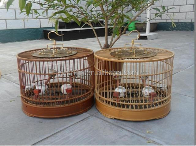 Bamboo Canary Bird Cage Bamboo Wood Macaw Bird Cage