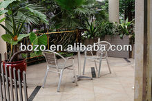 Outdoor bisto table set/ garden aluminum table polywood chair furniture