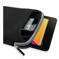 "Custom 7"" inch neoprene tablet case sleeve with zip"