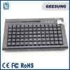 78 keys POS usb programmable keyboard with MSR