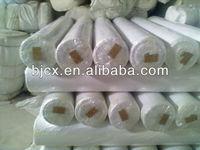 "polyester/cotton 90/10 45*45 96*72 58"" white fabric"