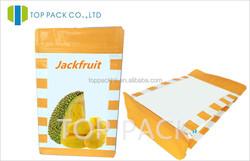 Ziplock Dried Fruit Snack Pakaging Bag Plain Bottom Doypack With Pocket Zipper