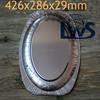 aluminium foil food tray, oval aluminum platter disposable aluminum pan for fish storage/grilling