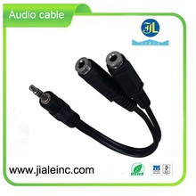 2 in 1 USB Audio Cable power supply New Durable charging usb cable