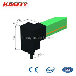 Komay Crane End Feed for Enclosed Conductor Rail