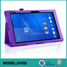 New Arrival Stand Leather Cover Case for Sony Xperia Z4 Tablet