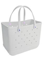 Expandable elastic pvc tote bag hot selling cotton canvas striped beach bags shopping bag