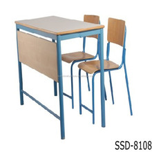 best selling school furniture 2 seater school table bench for sale