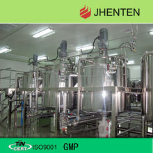 stainless steel heated jacket mixing tank for shampoo /lotion /liquid soap