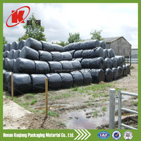 Black/green/white transparent plastic grass agriculture silage film