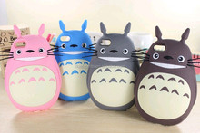 2015 3D Rubber Cute My Neighbor Totoro Soft Silicone Case cover for iphone 5 5S 4G 4S