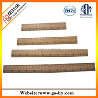 High quality custom wooden ruler 30 cm size