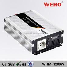 Hotsale 1200w 220v dc to ac12v high solar power 12v inverter car power inverter