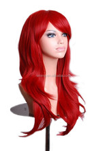 2015 hot sale wholesale long red curly hair wig fashion cheap lace wig W8053