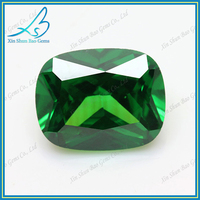 Synthetic zircon stone cushion cut gems stone emerald