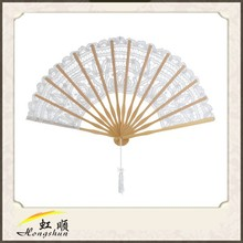 white wedding decoration unique lace bridal hand fan for wedding event