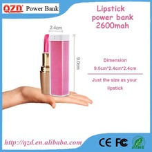 Best selling mobile phone power bank lipstick size new products on China market