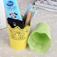 Artificial flower pot and metal pen holder