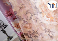floral printing blackout fabric for curtain with printing voile for interior decoration curtain fabrics turkey