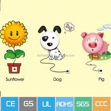 Night light manufacturing,China supplier,good quality kids wall socket children bedroom light night lamp for kids