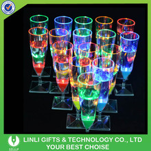 Promotion Customized LED Flashing Champagne Glass Manufacture With LED, Colorful LED Champagne Glass Manufacture In China