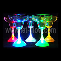 LIGHT UP GLASSES BARWARE BLINKING LED FLASHING MARGARITA CUPS