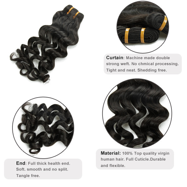 Livraison gratuite pour 5a cheveux lâche corps wacve réel vierge brésilienne cheveux extension