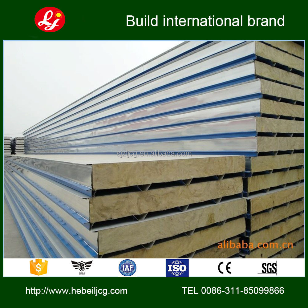 Low cost building materials sandwich panel prefab sip for Price of construction materials