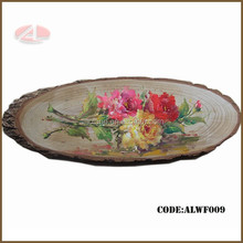 Handmade pink rose flower oil painting