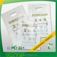 Double Handle and biodegradable plastic green shopping die cut bag