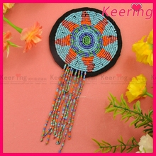 Beautiful beaded embroidered felt applique WPH-1823
