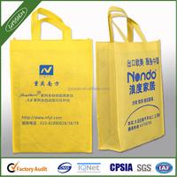 Yellow cheap non woven shopping bag
