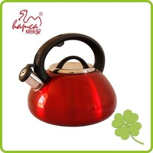 Red color whistle kettle with customized color surface