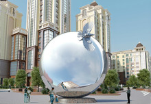 Modern Large stainless steel Abstract Arts Sphere sculpture for Garden garden decoration