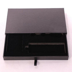 OEM printed creative paper packaging box with foil silver logo
