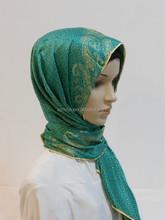 2014 Fashion Islamic beaded hijab, turkish hijab wholesale