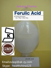 natural ferulic acid 98% rice bran extracts , fumalic acid CAS: 1135-24-6 for cosmetics ingredients