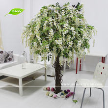 BLS053 GNW Decorative Artificial Wisteria Hanging Blossom Family Tree for home decoration