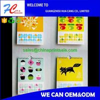 Company publicity 2016 desk calendar wall calendar 2016 printing in guangzhou china