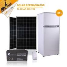 Doubel door with high power freezing 118L dc 12v solar fridge freezer