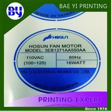 Company logo printing plastic sheet sticker
